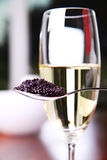 Caviar and champagne Stock Image
