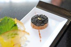 Caviar. Close up caviar on plate Royalty Free Stock Image