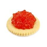 Caviar on a cracker Stock Photos