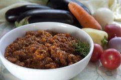 Caviar d'aubergine. Cuisine ukrainienne Photo stock