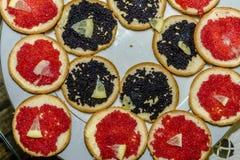 Caviar d'un plat Photographie stock libre de droits