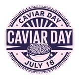 Caviar Day,  July 18. Rubber stamp, vector Illustration Stock Photo