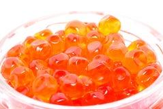 Caviar de color salmón. Imagen de archivo libre de regalías