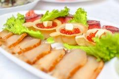Caviar de color salmón Imagen de archivo