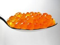 Caviar de los salmones rojos Imagen de archivo libre de regalías