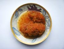 Caviar de moelle /courgette les mains photographie stock libre de droits