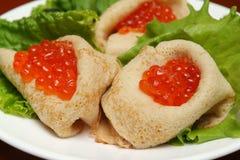 Caviar de rouge de poissons Image stock