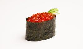 Caviar del sushi Foto de archivo libre de regalías