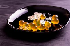 Caviar e esferas moleculars Foto de Stock Royalty Free