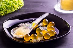 Caviar e esferas moleculars Foto de Stock