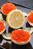 Caviar eggs Stock Photography