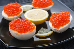 Caviar eggs Stock Image
