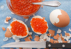 Caviar eggs Stock Photo