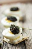 Caviar en los huevos Fotografía de archivo libre de regalías
