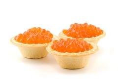 Caviar en tartlets Foto de archivo libre de regalías
