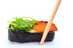 Caviar et algue de sushi Image stock
