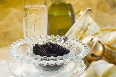 Caviar et champagne photo libre de droits