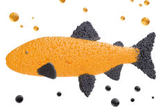 Caviar in the form of fish Royalty Free Stock Images