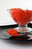 Caviar in a glass vase Stock Photography
