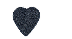 Caviar heart isolated on a white Stock Photo