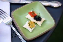 Caviar luxury appetizers Stock Image