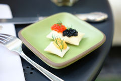 Caviar luxury appetizers Royalty Free Stock Photography