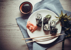 Caviar maki Royalty Free Stock Images