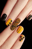 Caviar manicure. Royalty Free Stock Image