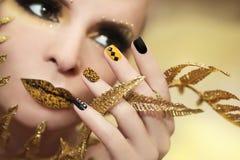 Caviar manicure. royalty free stock image