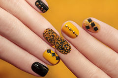Caviar manicure. royalty free stock photography