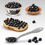 Caviar negro Fotos de archivo libres de regalías
