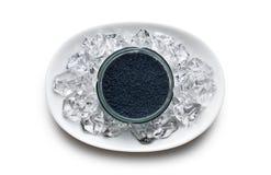 Caviar negro en tarro Imagen de archivo libre de regalías