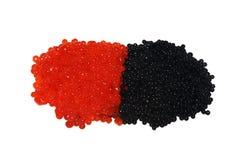 Caviar negro y rojo Fotografía de archivo libre de regalías