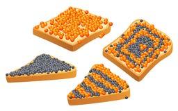 Caviar no pão Foto de Stock