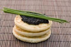 Caviar on pancake Royalty Free Stock Photography