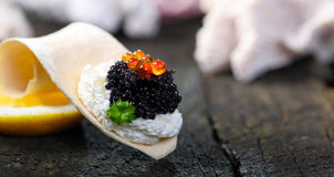 Caviar pearls Stock Photography