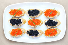 Caviar plate Royalty Free Stock Photography