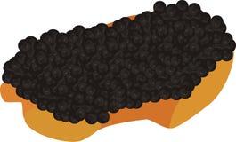 Caviar preto Imagem de Stock Royalty Free