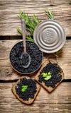 Caviar preto Foto de Stock Royalty Free
