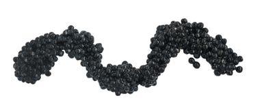 Caviar preto isolado no fundo branco fotos de stock royalty free