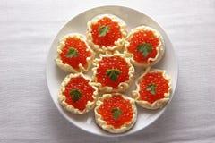 Caviar rojo. Imagenes de archivo