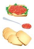 Caviar rojo Imágenes de archivo libres de regalías