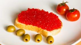 Caviar rojo foto de archivo