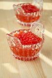 Caviar rojo Imagen de archivo libre de regalías