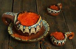 Caviar rojo fotografía de archivo