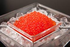 Caviar rojo Imagenes de archivo