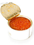 Caviar rojo de color salmón imagen de archivo libre de regalías