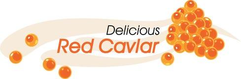 Caviar rojo delicioso stock de ilustración