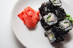 Caviar rolls Stock Image
