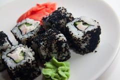 Caviar rolls Stock Photo